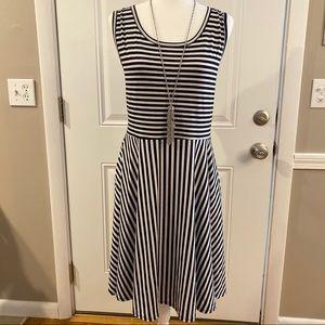 LuLaRoe Nicki black and white dress